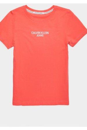 Women's Calvin Klein Jeans Institutional Back Logo Short Sleeve T-Shirt Pink, Pink