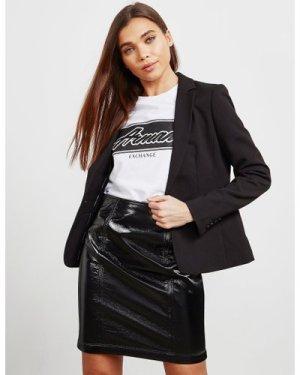 Women's Armani Exchange Stretch Blazer Black, Black