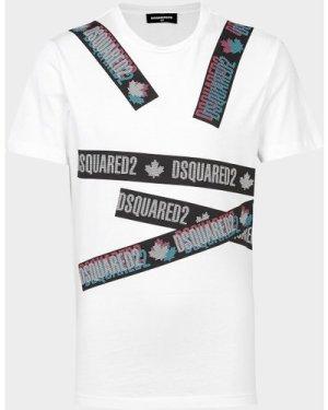 Kid's Dsquared2 Tape T-Shirt White, White/White