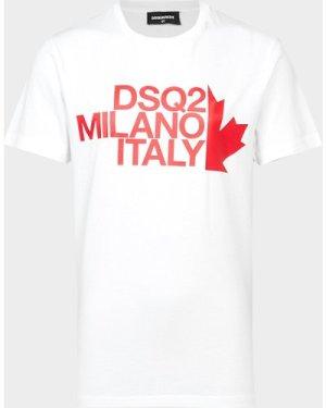Kid's Dsquared2 Milano T-Shirt White, White/White