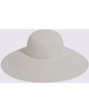 Womens Wide Brim Hat - cream, Cream