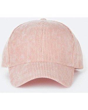 Womens Ribbed Cap - pink, Pink