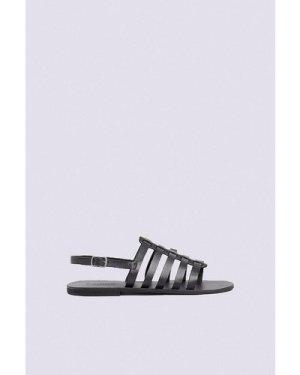 Womens Gladiator Sandal - black, Black