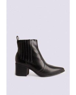 Womens Western Boot - black, Black