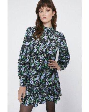 Womens Floral Peplum Hem Dress - multi, Multi