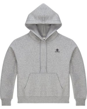 Embroidered Star Chevron Pullover Hoodie