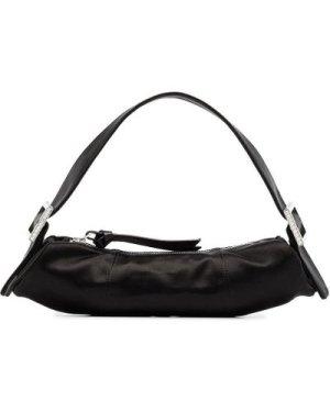 By Far 20FW 20FWKUSBLSMED KUBI silk shoulder bag black (Color: Black)