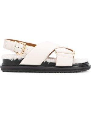 Marni Fussbett criss-cross sandals (Size: 355)