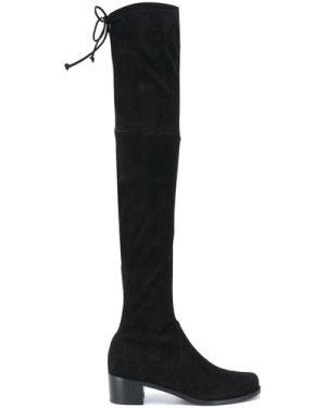 STUART WEITZMAN 20FW S5721 MIDLAND suede stretch boots Black (Size: 37)