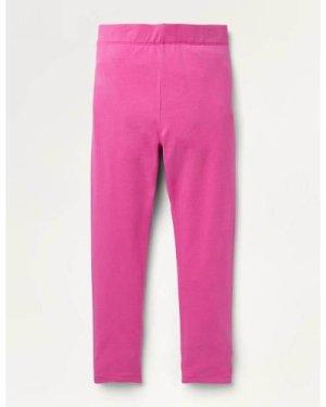 Plain Cosy Leggings Pink Girls Boden, Pink