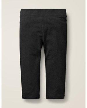 Plain Cropped Leggings Black Girls Boden, Black