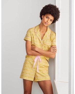 Phoebe PJ Shorts Yellow Women Boden, Yellow