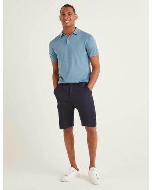 Cotton Linen Utility Shorts Navy Men Boden, Navy