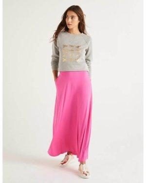 Jersey Maxi Skirt Pink Women Boden, Multicouloured