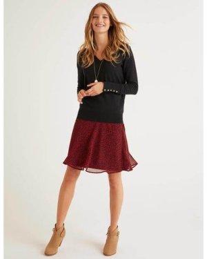 Astolat Mini Skirt Black Women Boden, Black