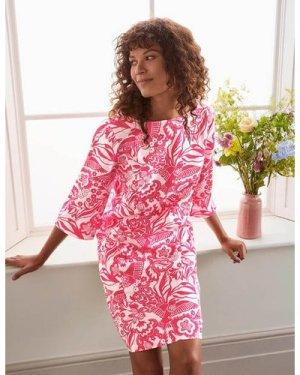 Laurie Linen Dress Pink Women Boden, Pink