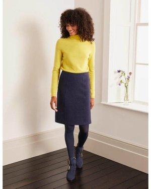 Poppy Boiled Wool Skirt Navy Women Boden, Navy