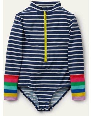 Long-sleeved Swimsuit Blue Boden, Blue