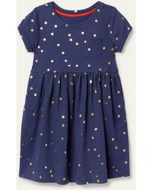 Fun Jersey Dress Navy Boden, Blue