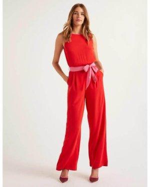 Lottie Jumpsuit Red Women Boden, Pink