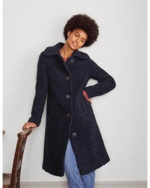 Elveden Textured Coat Navy Women Boden, Navy