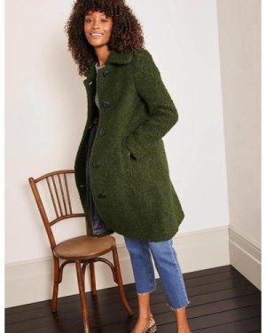 Elveden Textured Coat Green Women Boden, Green
