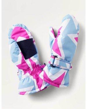 All-weather Star Mittens Pink Girls Boden, Blue