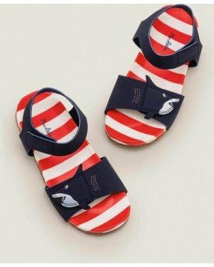 Water Resistant Aqua Sandals Blue Boys Boden, Navy