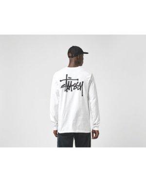 Stussy Long Sleeve Basic T-Shirt, White/WHT
