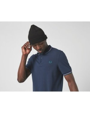 Fred Perry Twin Tipped Short Sleeve Polo Shirt, Blue/CARBON