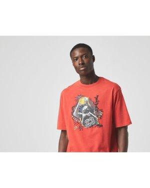 Jordan Washed Vintage Jumpshot T-Shirt, Red/RED