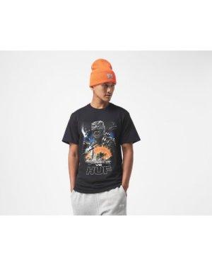 Huf vs Godzilla Tour T-Shirt, Black/White