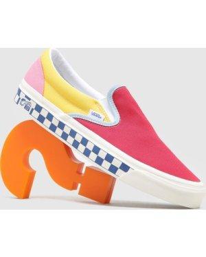 Vans Anaheim Factory Classic Slip-On 98 DX Shoes, Multi/RD/BLU-YL