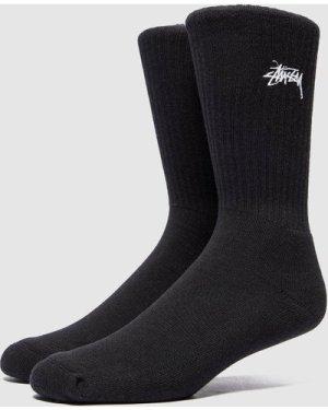 Stussy Stock Premium Socks, Black/White