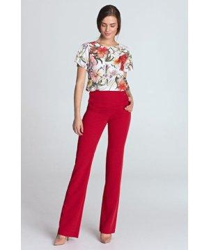 Nife High-waisted pants - red