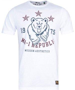 MA-1 Republic Print White T-Shirt