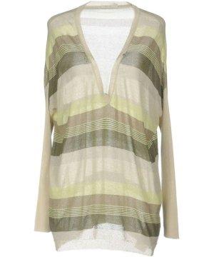 Gas Light Green Stripe Lightweight Knit