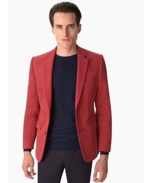 Duchamp Notch Lapel Cotton Twill Jacket Red
