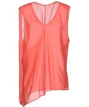 Elie Tahari Coral Silk Sleeveless Blouse