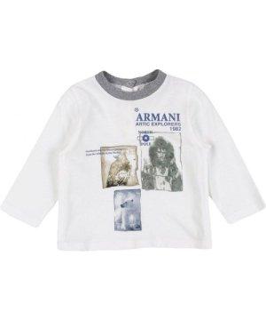 Armani Junior Grey Boy Cotton Top