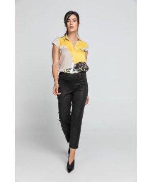 Conquista Slim Fit Black Pants Fashion