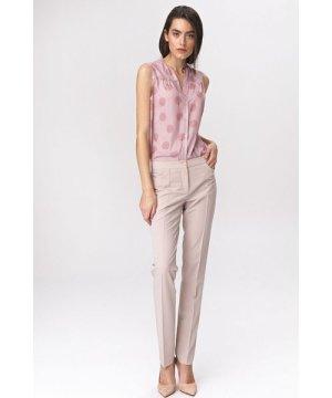 Nife Light beige classic womens trousers