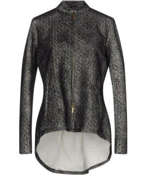 Manila Grace Denim Black Herringbone Jacket