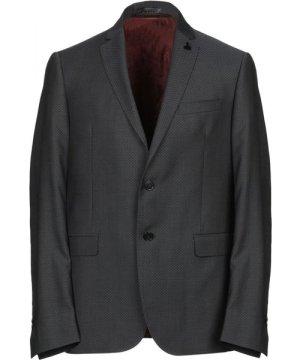 Messagerie Steel Grey Virgin Wool Single Breasted Jacket