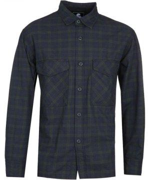 Edwin Checked Long Sleeve Navy Shirt
