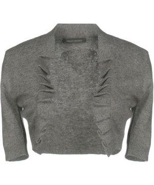 Ermanno Scervino Di Grey Knit Cropped Cardigan