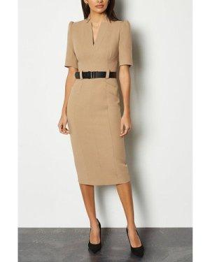 Karen Millen Forever Dress -, Camel