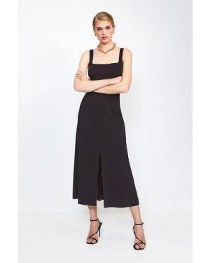 Karen Millen Panelled Fluid Midi Dress -, Black
