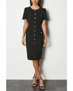 Karen Millen Utility Dress -, Black