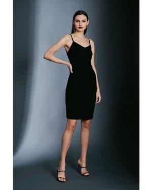 Karen Millen Devore Strappy Knot Dress -, Black